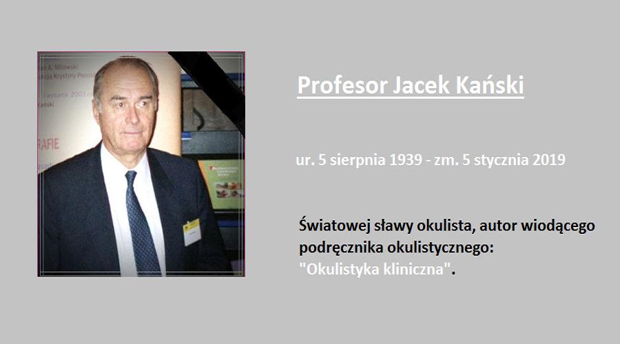 Profesor Jacek Kański - okulista